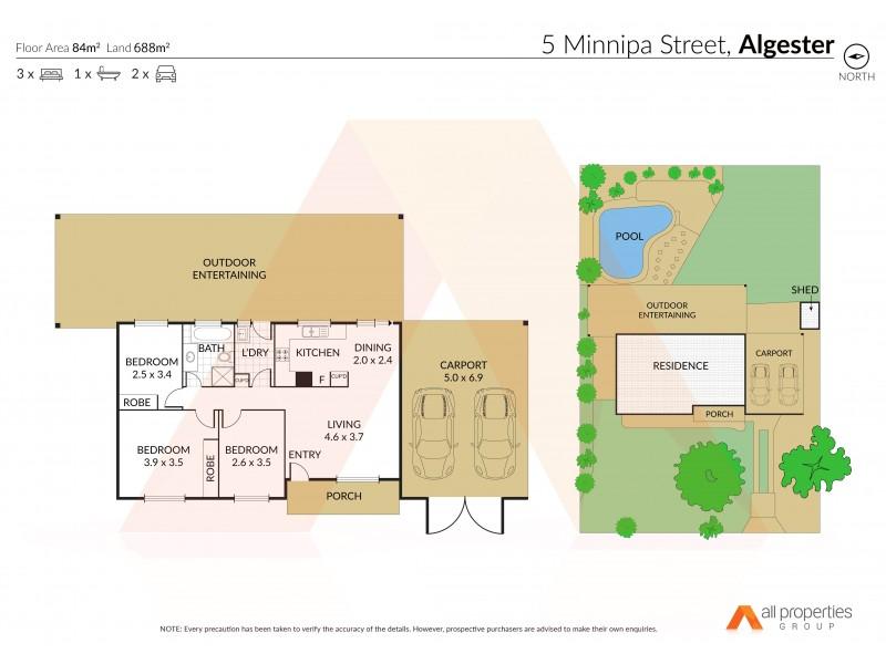 5 Minnipa St, Algester QLD 4115 Floorplan