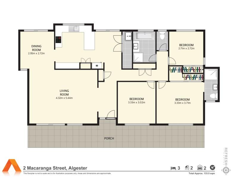 6 Eungella Street, Algester QLD 4115 Floorplan