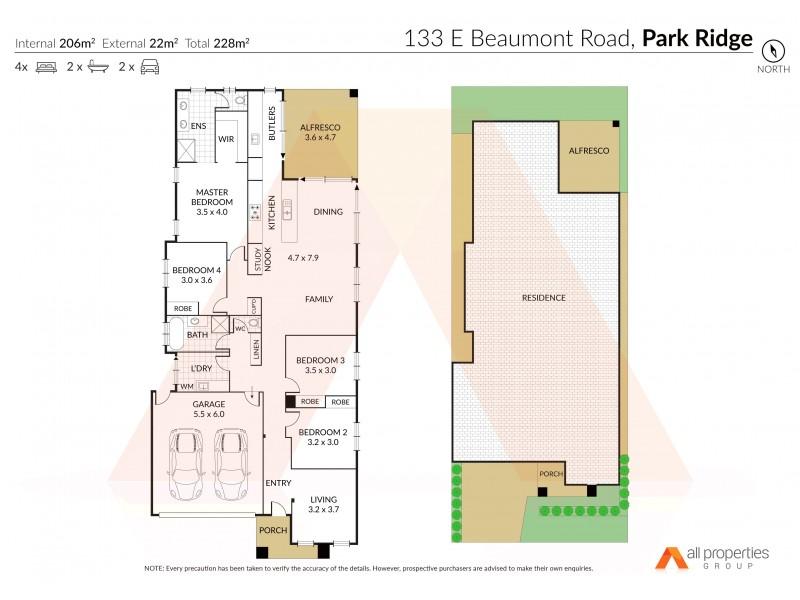 133 East Beaumont Rd, Park Ridge QLD 4125 Floorplan