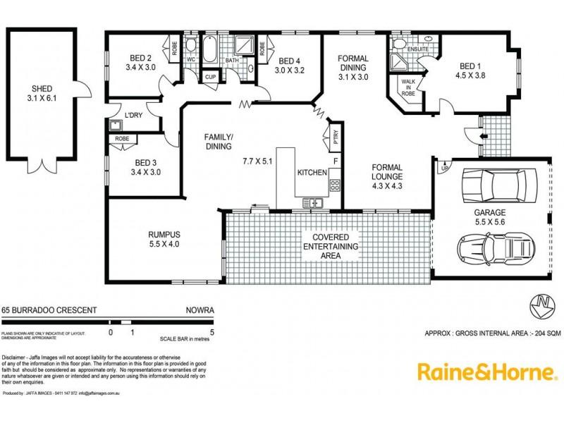 65 Burradoo Crescent, Nowra NSW 2541 Floorplan