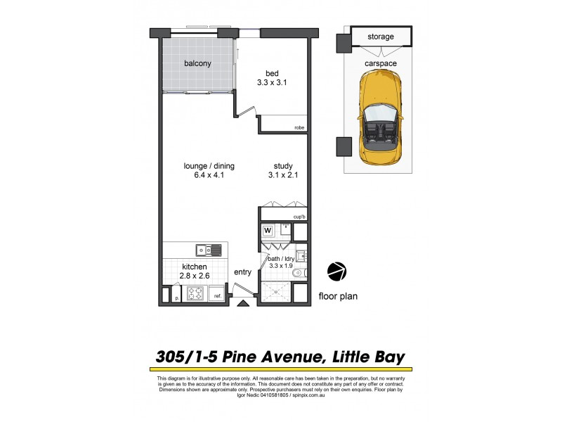 305/1-5 Pine Avenue, Little Bay NSW 2036 Floorplan