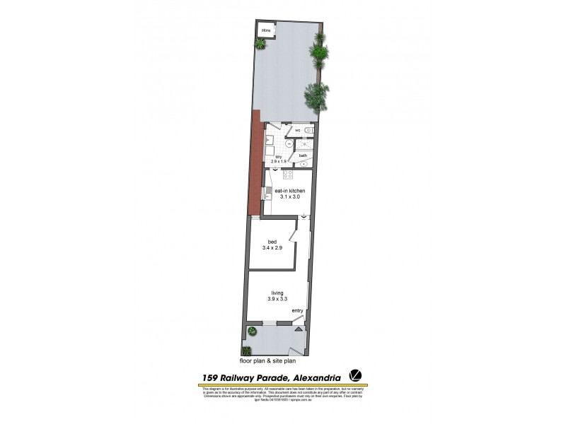 159 Railway Parade, Alexandria NSW 2015 Floorplan
