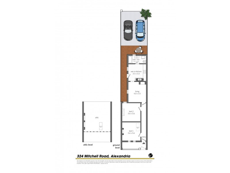 324 Mitchell Road, Alexandria NSW 2015 Floorplan