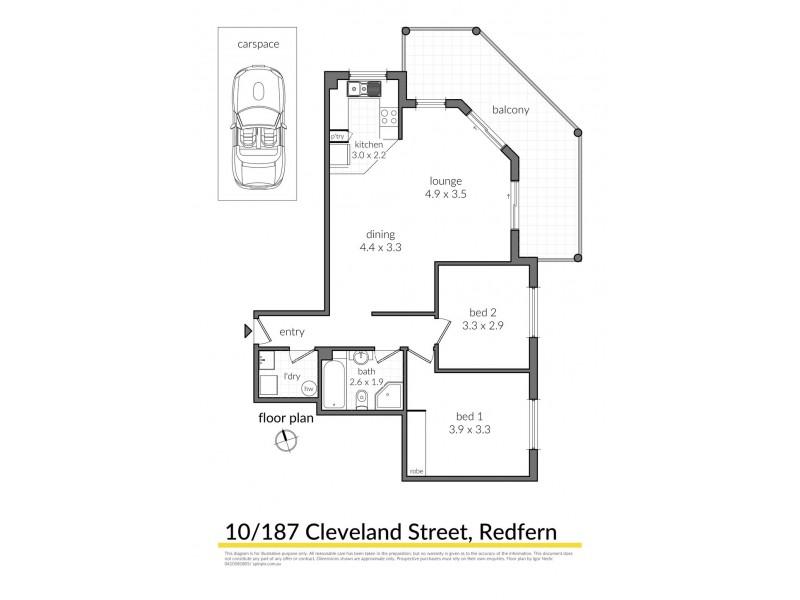 10/187 Cleveland Street, Redfern NSW 2016 Floorplan
