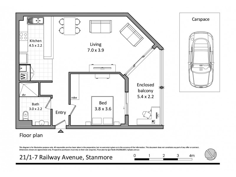 21/7-9 Railway Avenue, Stanmore NSW 2048 Floorplan