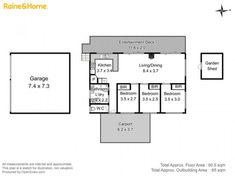 15 Eagle View Road, Nubeena TAS 7184 Floorplan