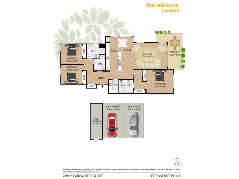 209/16 Fairwater Close, Breakfast Point NSW 2137 Floorplan