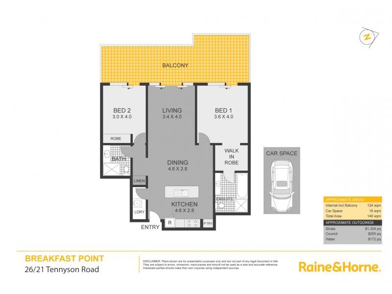 26/21 Tennyson Road, Breakfast Point NSW 2137 Floorplan