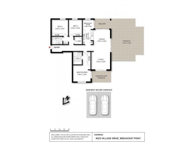 402/2 Village Drive, Breakfast Point NSW 2137 Floorplan