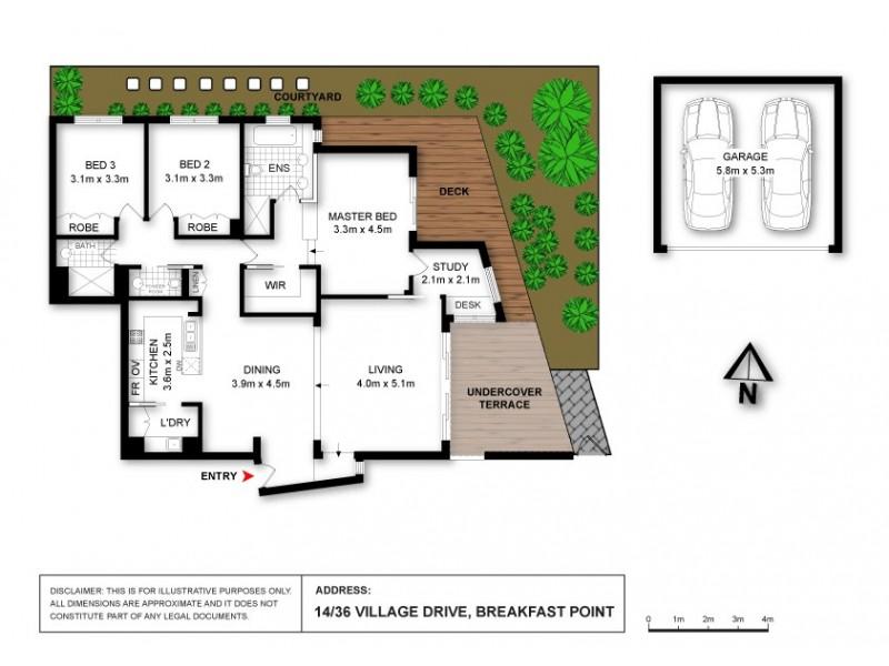 14/36 Village Drive, Breakfast Point NSW 2137 Floorplan