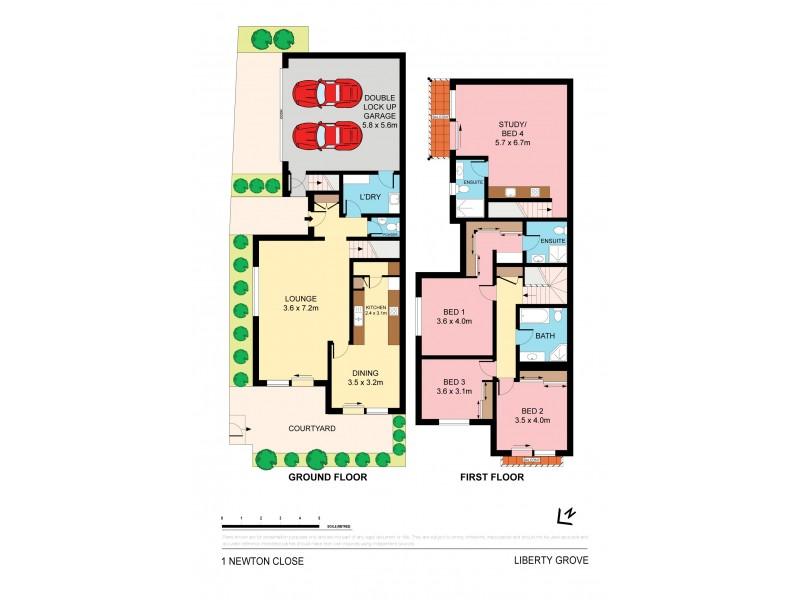 1 Newton Close, Liberty Grove NSW 2138 Floorplan