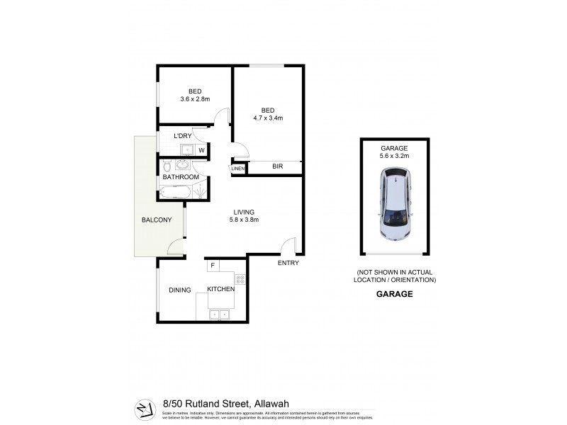 8/50 Rutland Street, Allawah NSW 2218 Floorplan