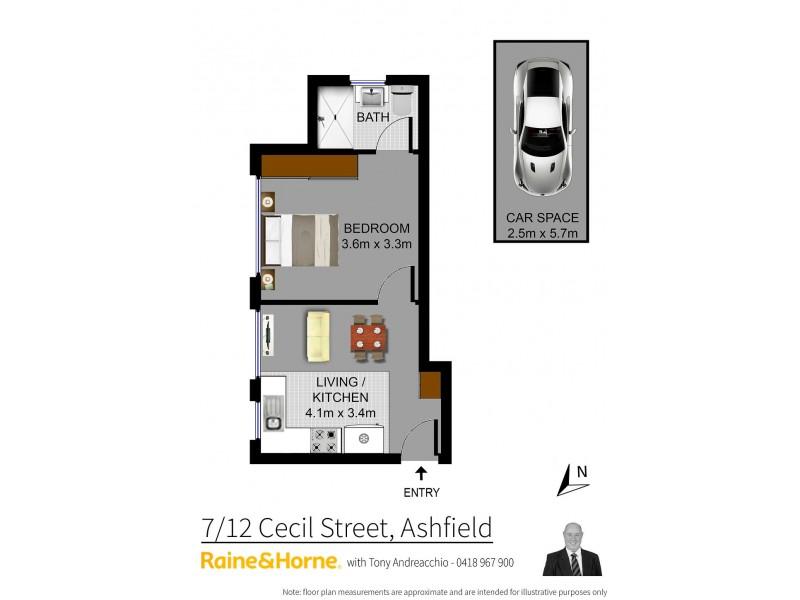 7/12 Cecil Street, Ashfield NSW 2131 Floorplan