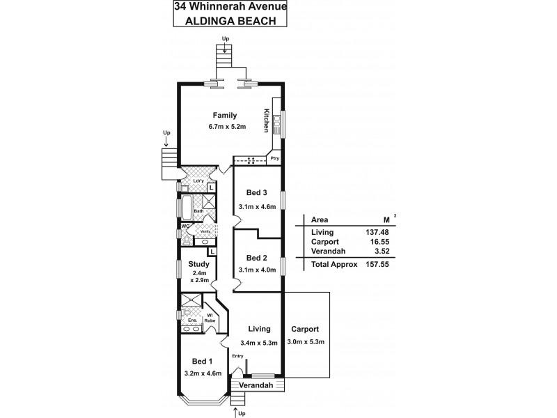34 Whinnerah Avenue, Aldinga Beach SA 5173 Floorplan