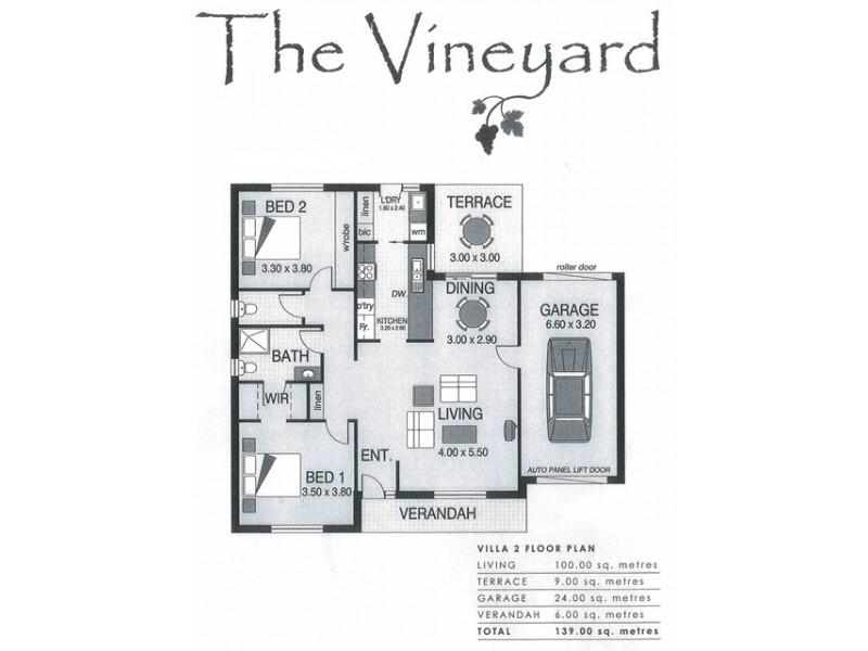Villa 2/170 Main Road, Mclaren Vale SA 5171 Floorplan