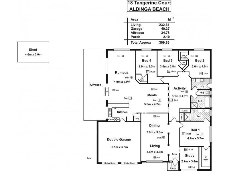 18 Tangerine Court, Aldinga Beach SA 5173 Floorplan