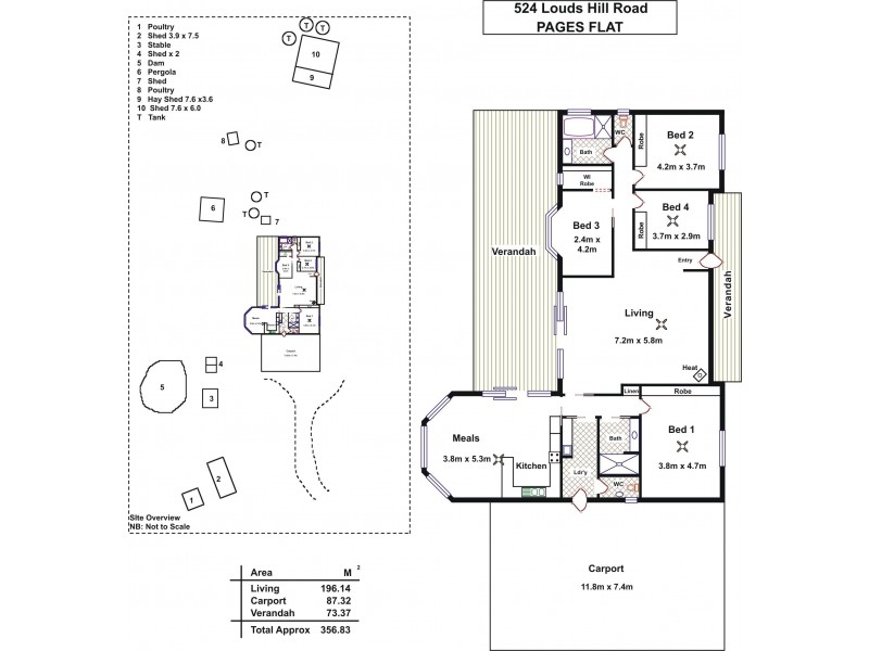 524 Louds Hill Road, Pages Flat SA 5172 Floorplan