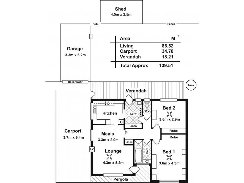 21 Liddiard Street, Mclaren Vale SA 5171 Floorplan