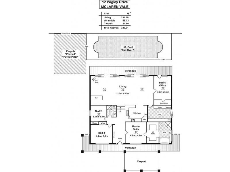 12 Wigley Drive, Mclaren Vale SA 5171 Floorplan