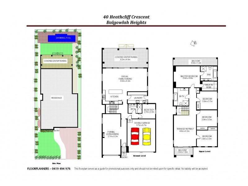 40 Heathcliff Crs, Balgowlah Heights NSW 2093 Floorplan