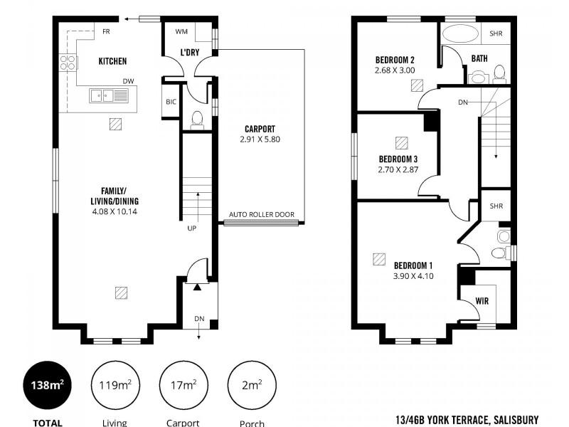 13/46B York Terrace, Salisbury SA 5108 Floorplan