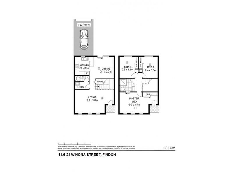 34, 6-24 Winona Street, Findon SA 5023 Floorplan