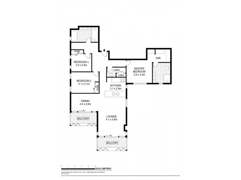 Apt 1701 Balfours Way, Adelaide SA 5000 Floorplan