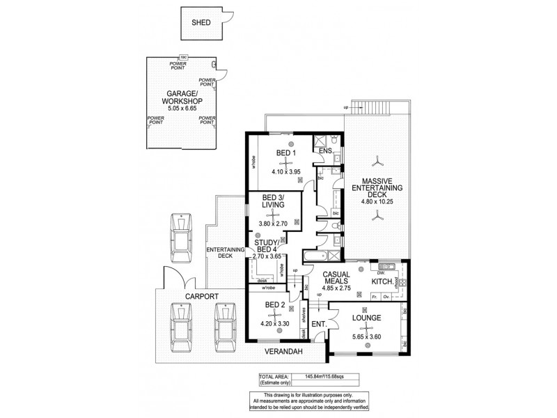 4 Kathrina Street, O'halloran Hill SA 5158 Floorplan