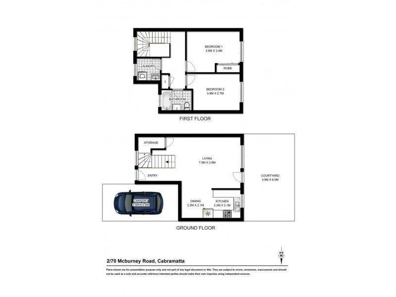 2/70 MCBURNEY ROAD, Cabramatta NSW 2166 Floorplan