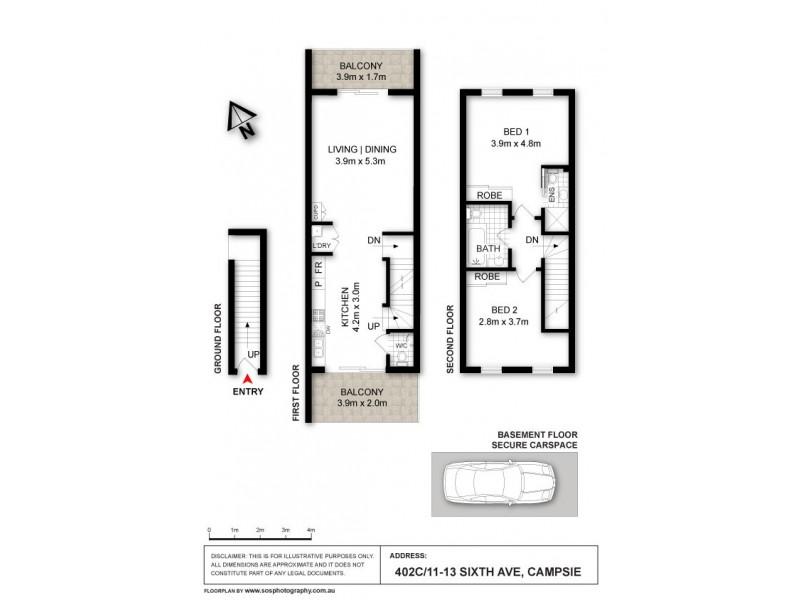402c/5-11 Sixth Avenue, Campsie NSW 2194 Floorplan