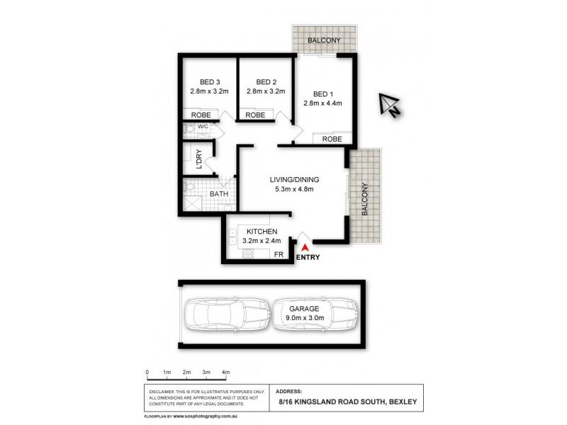 8/16 Kingsland Road South, Bexley NSW 2207 Floorplan