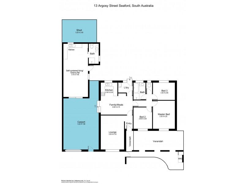 13 Argosy Street, Seaford SA 5169 Floorplan