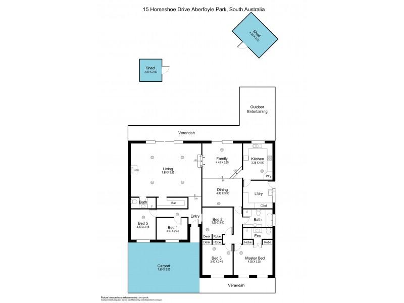 15 Horseshoe Drive, Aberfoyle Park SA 5159 Floorplan