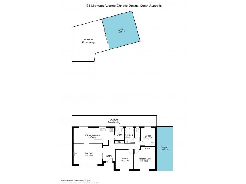 33 Midhurst Avenue, Christie Downs SA 5164 Floorplan