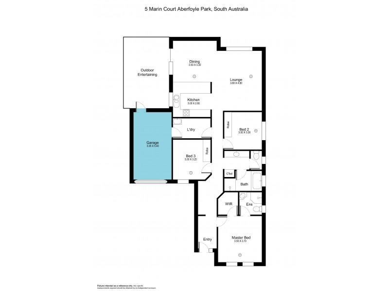 5 Marin Court, Aberfoyle Park SA 5159 Floorplan