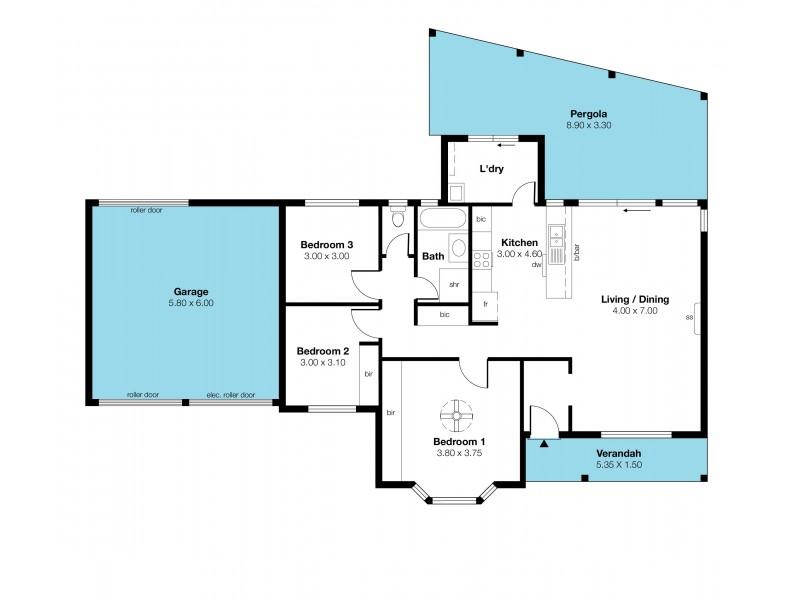 1/1 Abbaron Court, Aberfoyle Park SA 5159 Floorplan