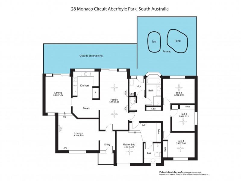 28 Monaco Circuit, Aberfoyle Park SA 5159 Floorplan