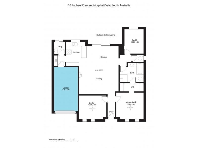 10 Raphael Crescent, Morphett Vale SA 5162 Floorplan