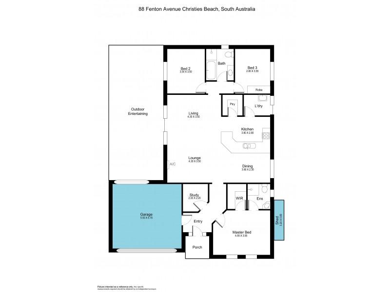 88 Fenton Avenue, Christies Beach SA 5165 Floorplan