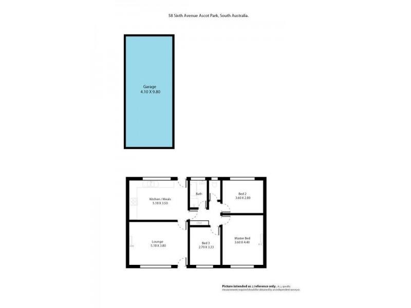 58 Sixth Avenue, Ascot Park SA 5043 Floorplan
