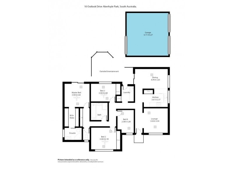 10 Outlook Drive, Aberfoyle Park SA 5159 Floorplan