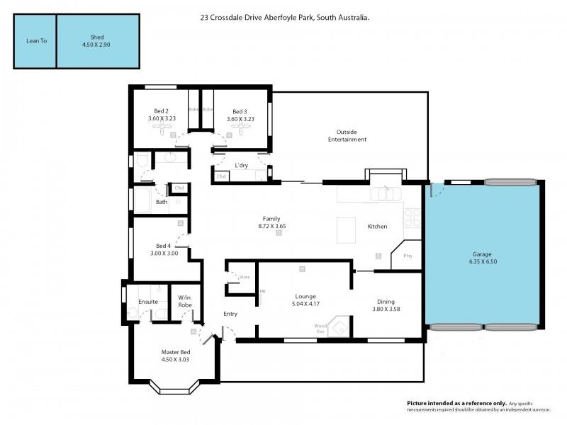 23 Crossdale Drive, Aberfoyle Park SA 5159 Floorplan