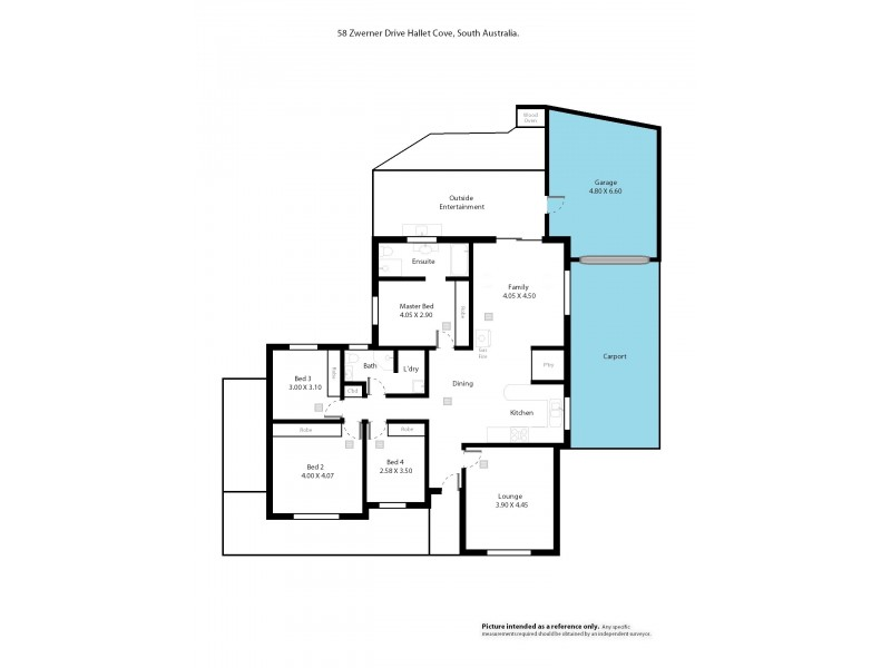 58 Zwerner Drive, Hallett Cove SA 5158 Floorplan