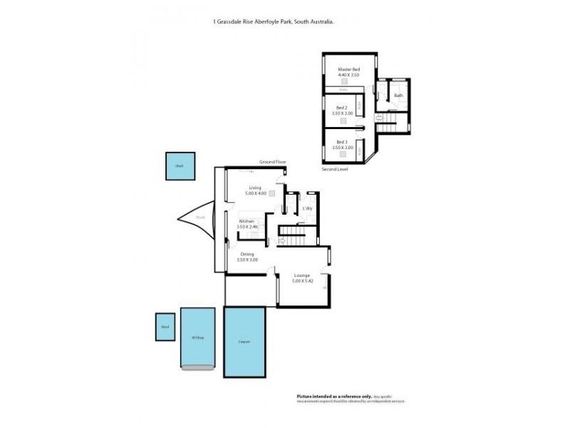 1 Grassdale Rise, Aberfoyle Park SA 5159 Floorplan