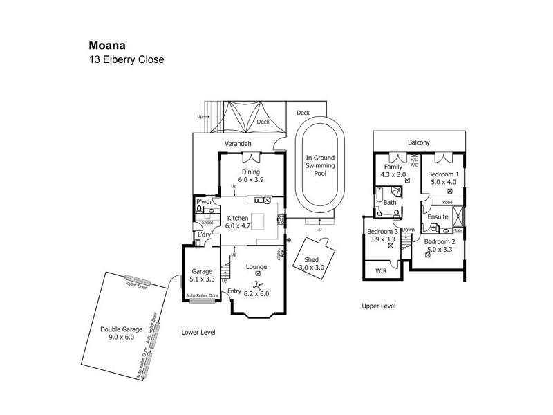 13 Elberry Close, Moana SA 5169 Floorplan