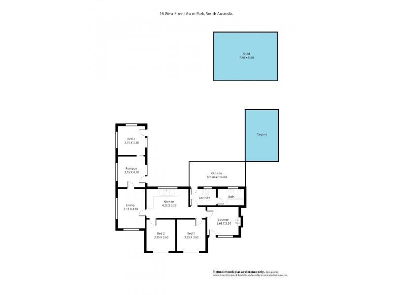 16 West Street, Ascot Park SA 5043 Floorplan