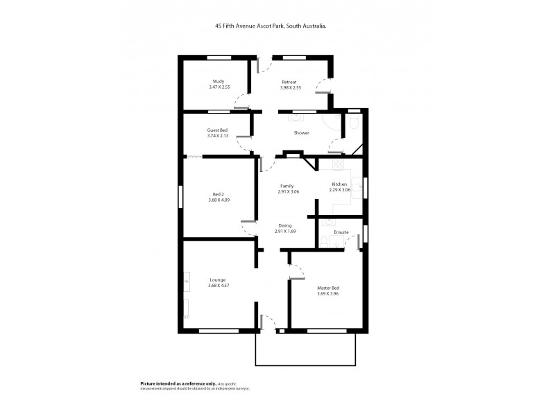 45 Fifth Avenue, Ascot Park SA 5043 Floorplan