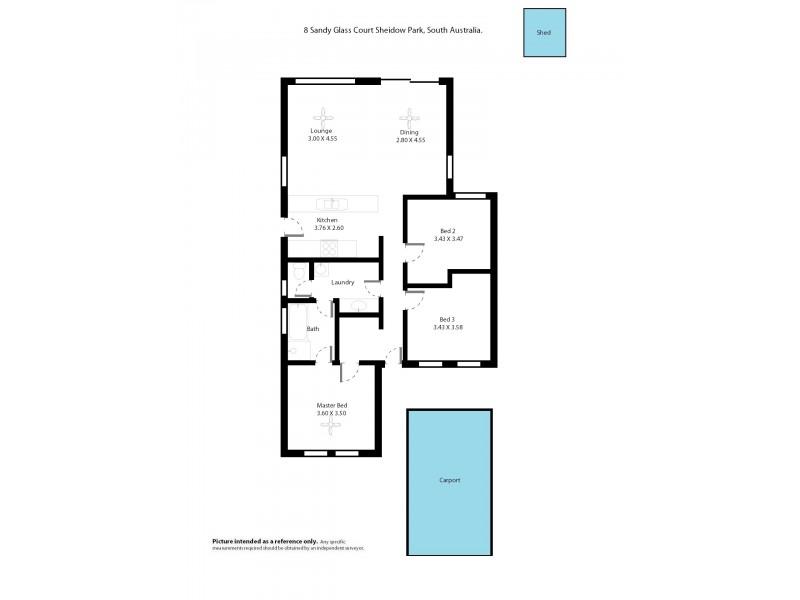 8 Sandy Glass Court, Sheidow Park SA 5158 Floorplan