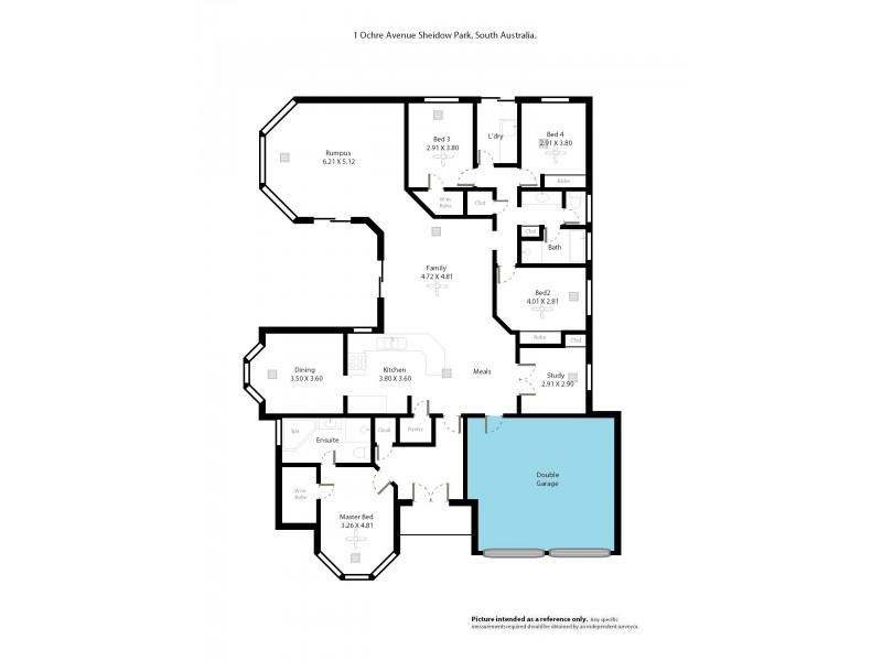 1 Ochre Court, Sheidow Park SA 5158 Floorplan