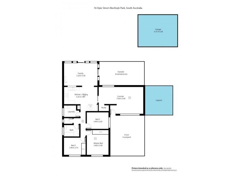 16 Opie Street, Aberfoyle Park SA 5159 Floorplan